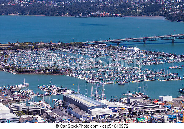 Boats of Auckland - csp54640372