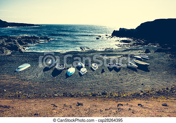boats on a shore - csp28264395