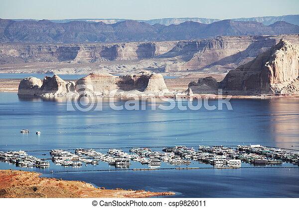 Boats on lake - csp9826011