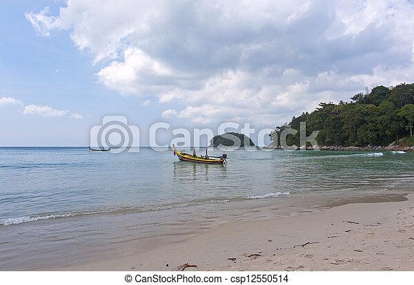 boats on shore - csp12550514