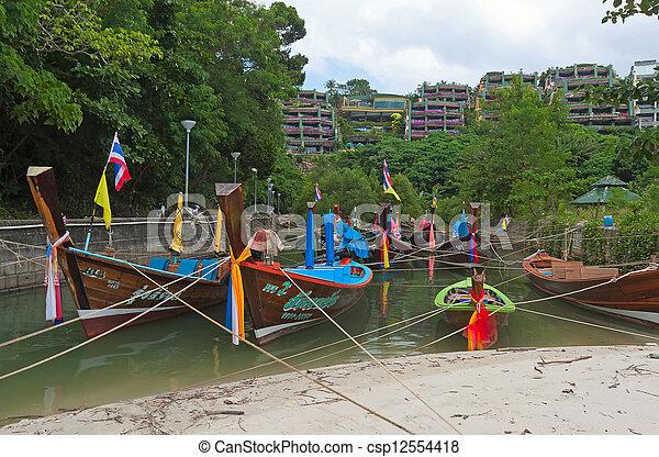 boats on shore - csp12554418