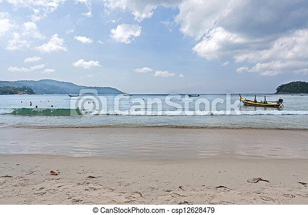 boats on shore - csp12628479