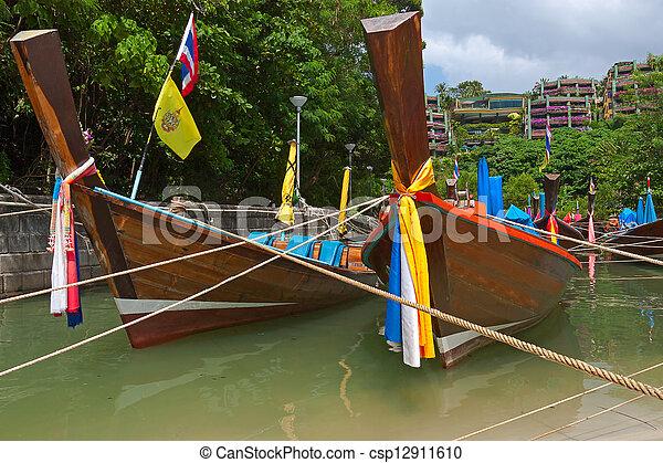 boats on shore - csp12911610