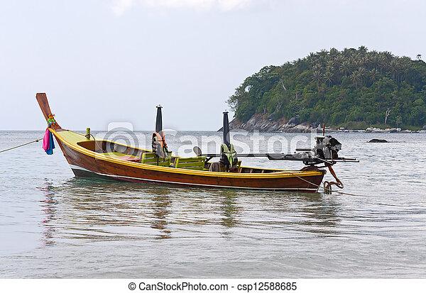boats on shore - csp12588685