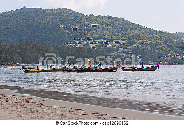 boats on shore - csp12696152