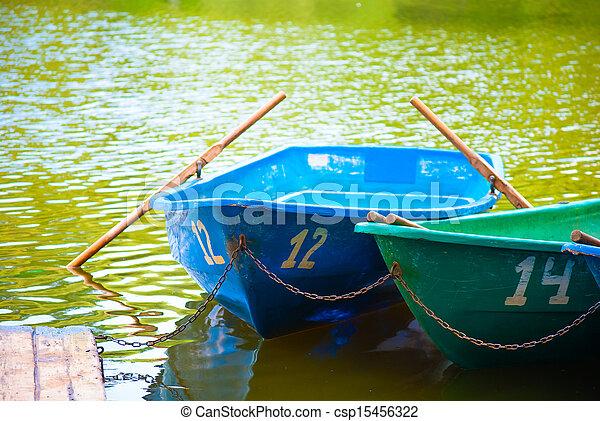 boats on shore - csp15456322