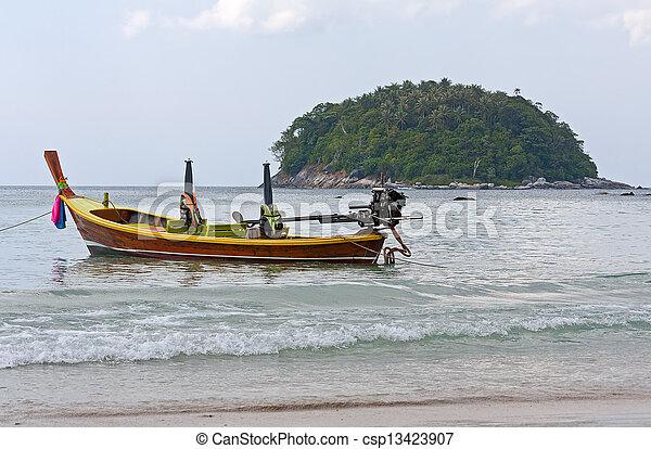 boats on shore - csp13423907