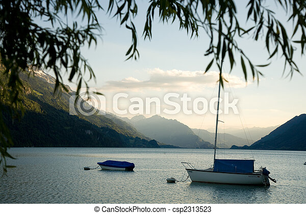 Boats on the Lake of Brienz - csp2313523