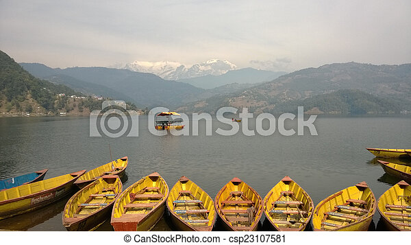Boats on the Lake - csp23107581
