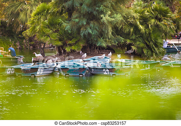 Boats on the lake - csp83253157