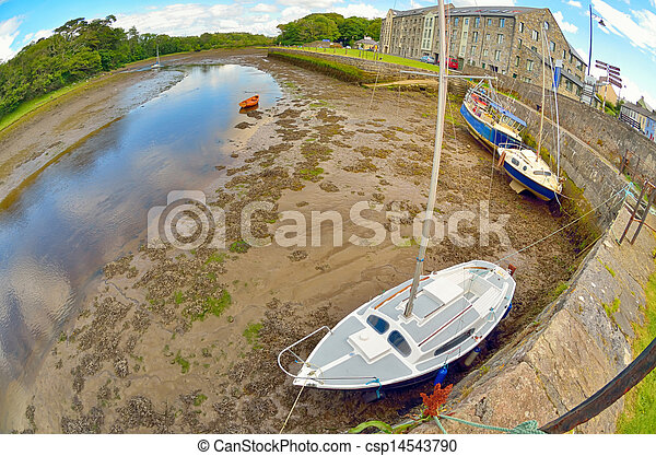 boats on the river shore - csp14543790