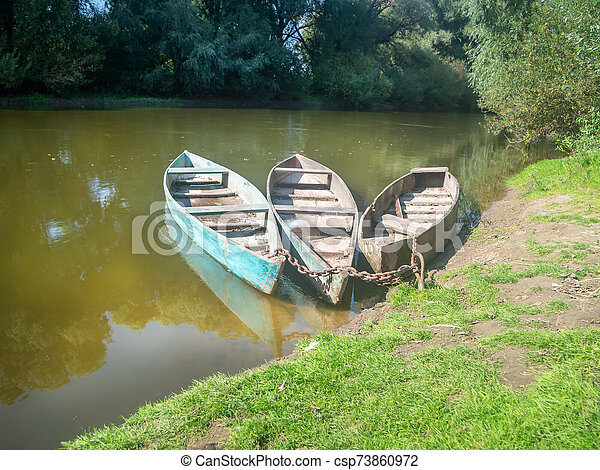 boats on the shore - csp73860972