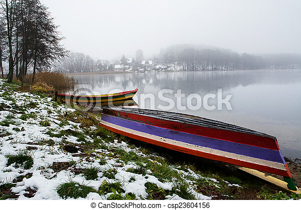 boats on the shore - csp23604156