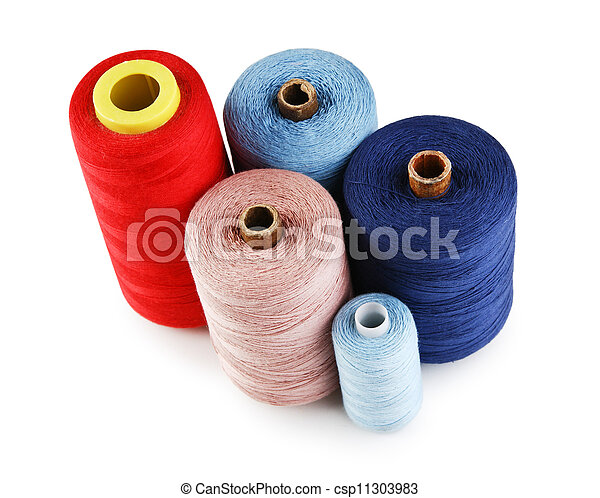 bobbin with thread isolated on a white background - csp11303983