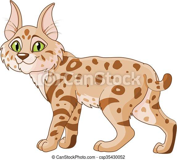 illustration of cute bobcat clipart vector search illustration rh canstockphoto com bobcat clipart free bobcat clipart images