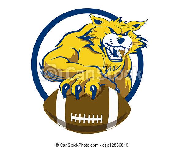 Bobcat con fútbol - csp12856810