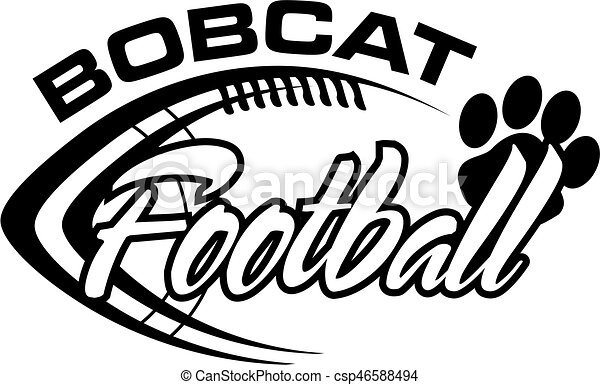 bobcat football team design with football laces for school college
