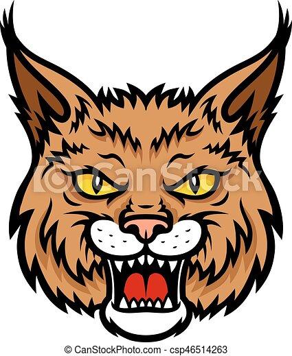 bobcat lynx head muzzle vector mascot icon bobcat lynx clip art rh canstockphoto ie bobcat clip art black and white bobcat clip art for schools