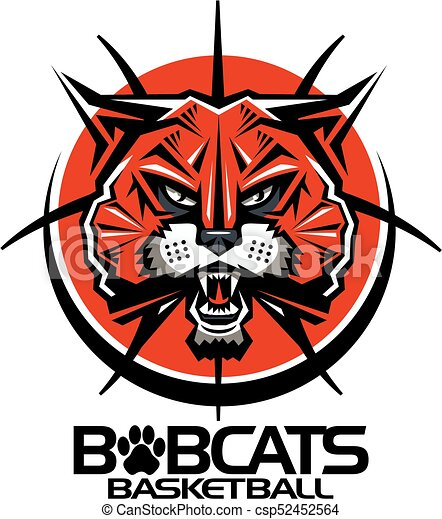 tribal bobcats basketball team design with mascot face clip art rh canstockphoto ca free bobcat clipart black and white bobcat clipart free download