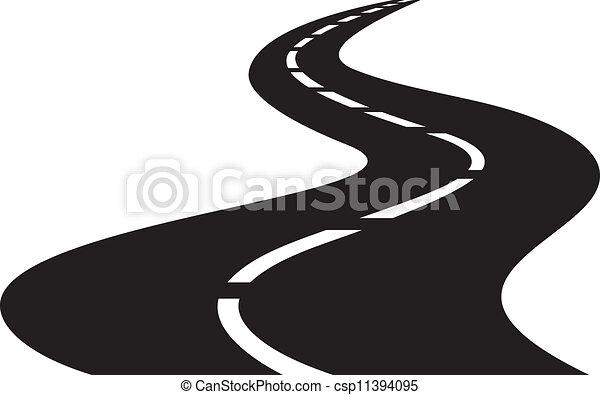 Ilustración del vector de la carretera - csp11394095