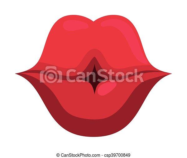 Conosciuto Bocca, labbra, demale, disegno. Corpo, appartamento, bacio  BW67