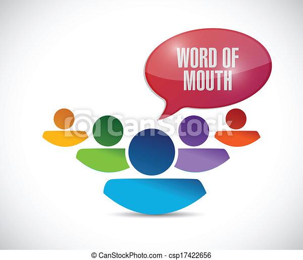 bocca, messaggio, parola, illustrazione, squadra - csp17422656