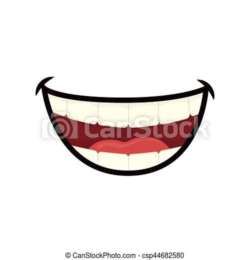 Bocca ridere cartone animato. grafico illustrazione vettore
