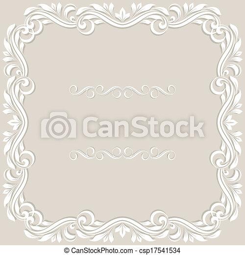 Tarjeta de invitación de boda. - csp17541534
