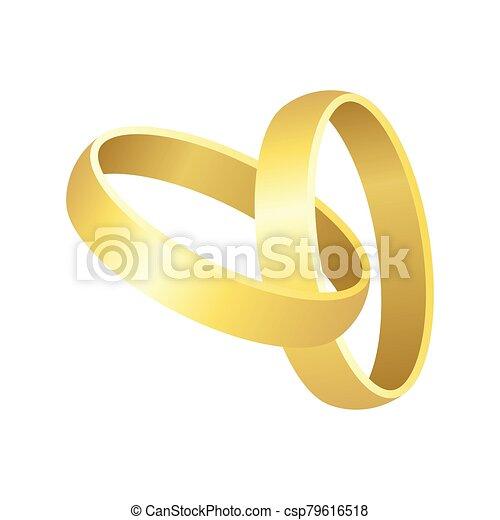 boda, ilustración, anillo blanco, aislado, plano de fondo, vector - csp79616518
