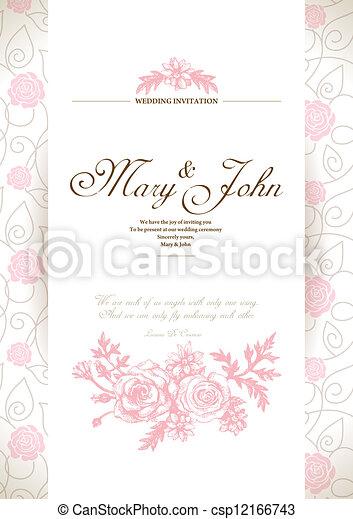 Tarjeta de invitación de boda - csp12166743