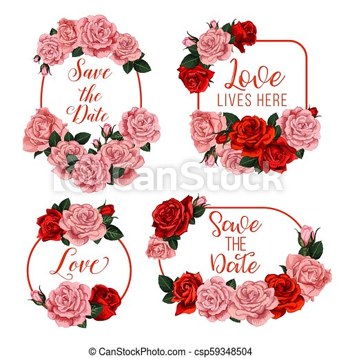 El Vector De Las Flores Para La Tarjeta De Invitación De