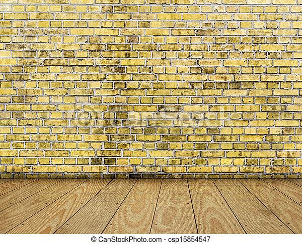 Boden Wand Innen Gelber Hlzern Hintergrund Mauerstein Planke With Wand Innen