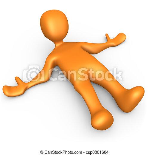 Boden. Person, ground., liegende , 3d Zeichnung - Suche Clipart ...
