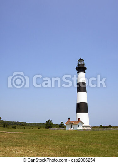 Bodie Island lighthouse on the outer banks of North Carolina - csp2006254