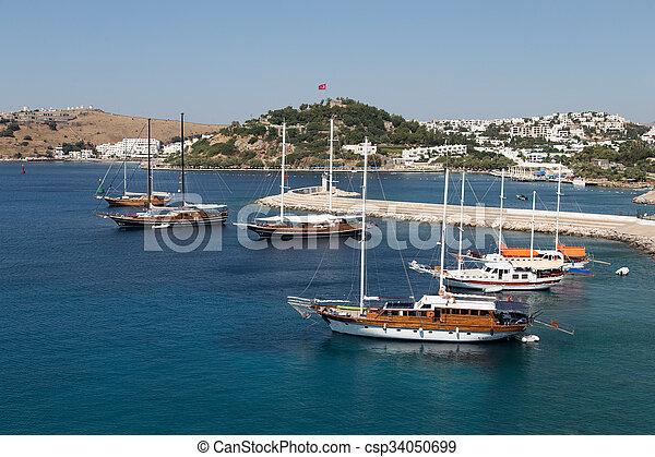 Bodrum Town In Mugla City Aegean Turkey