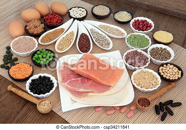 Body Building Diet food - csp34211841