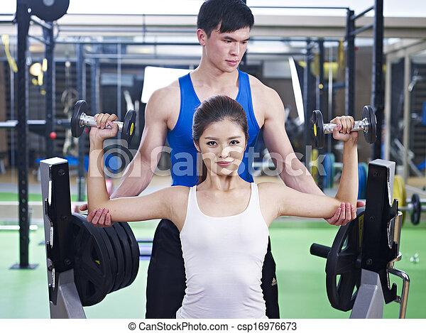 body building exercise - csp16976673