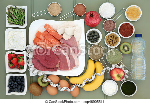 Body Building Health Food Collection - csp46905511