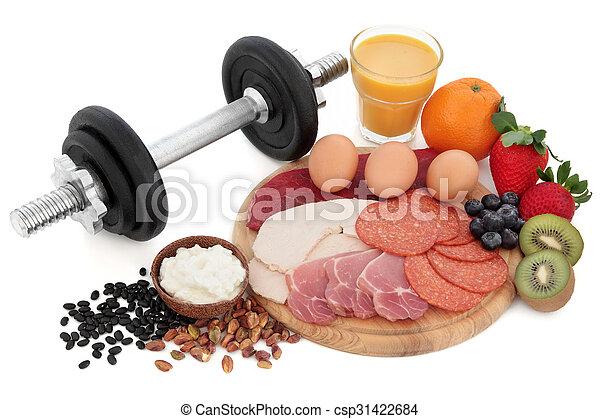 Body Building Health Food   - csp31422684