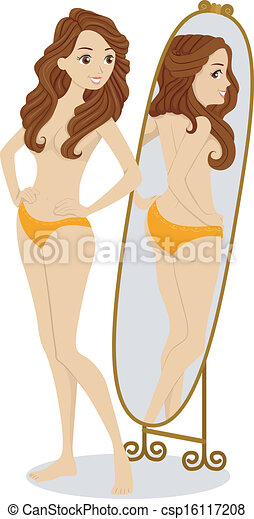 Body Image Girl - csp16117208