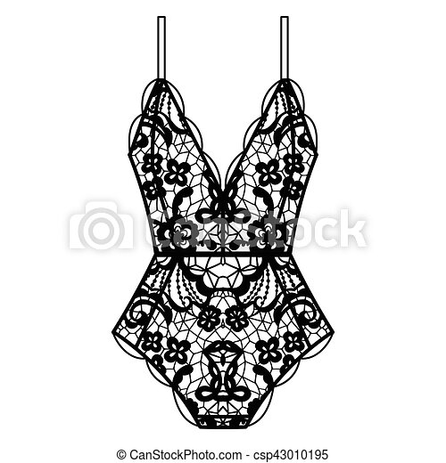 Body Lingerie Collection Of Lingerie Body Set Vector