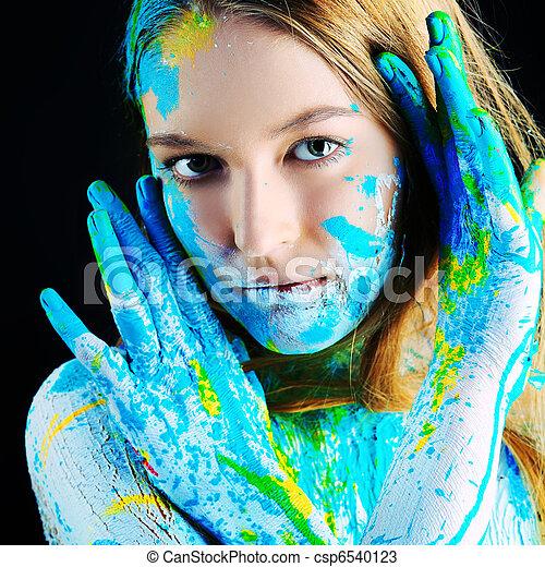 body painting - csp6540123