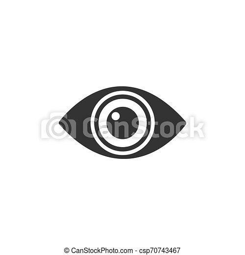 Body senses vision. Eye icon on a white background - csp70743467