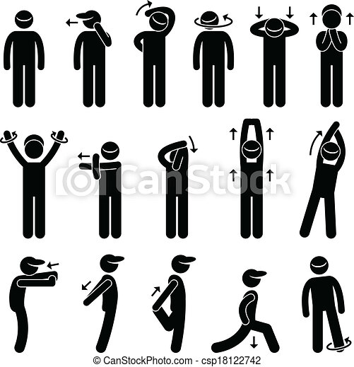 Body Stretching Exercise Icon - csp18122742