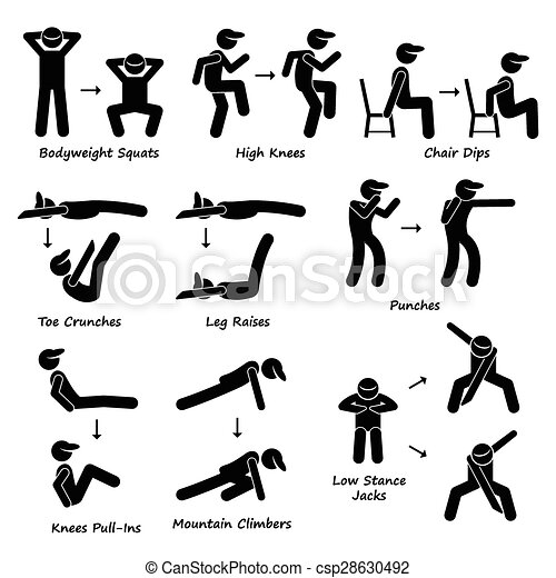 Body Workout Exercise Fitness Train - csp28630492