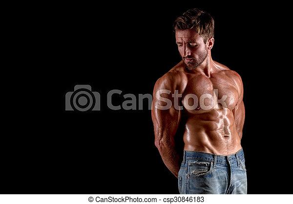 Bodybuilder man - csp30846183