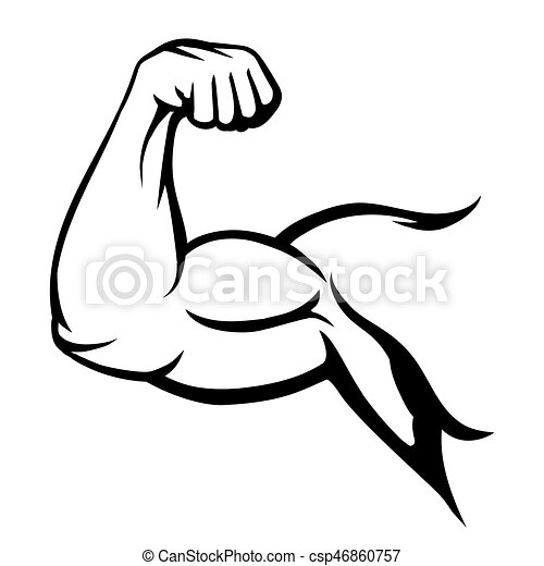 bodybuilder muscle flex arm vector illustration strong macho biceps rh canstockphoto ca