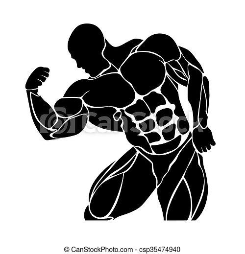Bodybuilding and powerlifting  - csp35474940