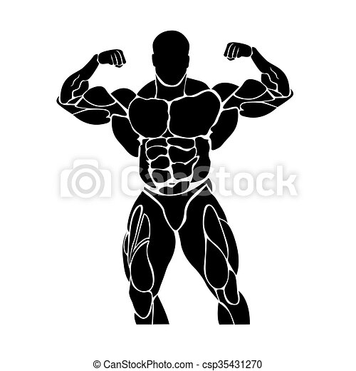 Bodybuilding and powerlifting  - csp35431270