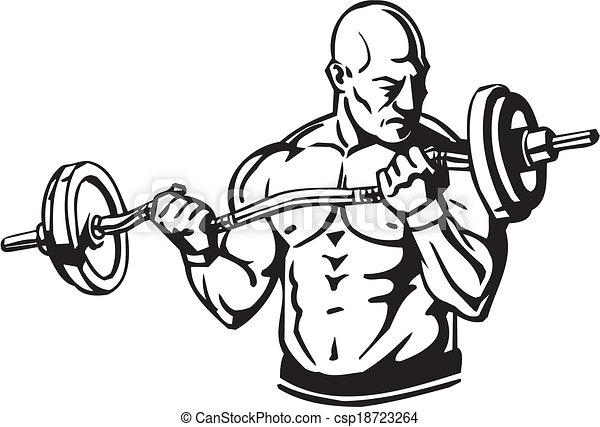 Bodybuilding and Powerlifting - vector. - csp18723264